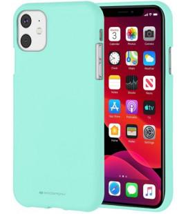 """Mėtos spalvos silikoninis dėklas Apple iPhone 11 telefonui """"Mercury Soft Feeling"""""""