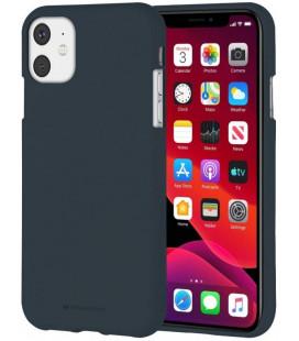 """Mėlynas silikoninis dėklas Apple iPhone 11 telefonui """"Mercury Soft Feeling"""""""