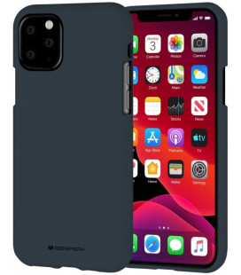 "Mėlynas silikoninis dėklas Apple iPhone 11 Pro Max telefonui ""Mercury Soft Feeling"""