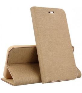 """Auksinės spalvos atverčiamas dėklas su rėmeliu Apple iPhone 11 Pro Max telefonui """"Book Vennus Z"""""""