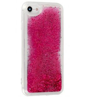 """Rožinis silikoninis dėklas su blizgučiais Huawei P30 telefonui """"Liquid Case"""""""