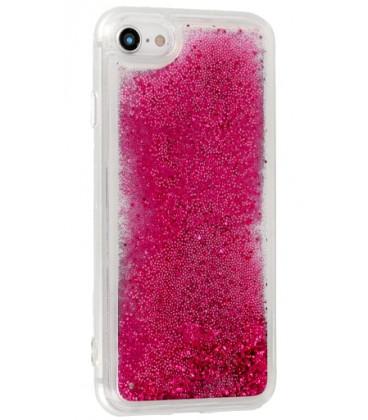 """Rožinis silikoninis dėklas su blizgučiais Samsung Galaxy S10E telefonui """"Liquid Case"""""""