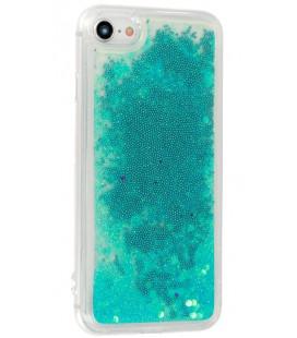 """Mėlynas silikoninis dėklas su blizgučiais Samsung Galaxy S10 telefonui """"Liquid Case"""""""