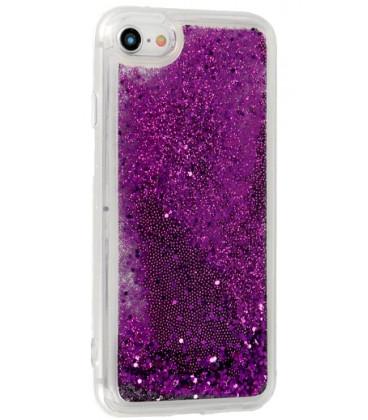"""Violetinis silikoninis dėklas su blizgučiais Samsung Galaxy S10 telefonui """"Liquid Case"""""""
