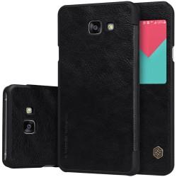 """Odinis juodas atverčiamas dėklas Samsung Galaxy A5 2016 telefonui """"Nillkin Qin"""""""