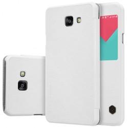 """Odinis baltas atverčiamas dėklas Samsung Galaxy A5 2016 telefonui """"Nillkin Qin"""""""