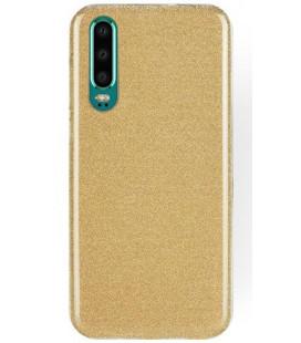 """Auksinės spalvos silikoninis blizgantis dėklas Huawei P30 telefonui """"Shining Case"""""""