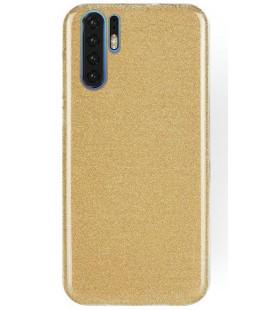 """Auksinės spalvos silikoninis blizgantis dėklas Huawei P30 Pro telefonui """"Shining Case"""""""