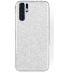 """Sidabrinės spalvos silikoninis blizgantis dėklas Huawei P30 Pro telefonui """"Shining Case"""""""