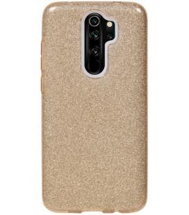 """Auksinės spalvos silikoninis blizgantis dėklas Xiaomi Redmi Note 8 Pro telefonui """"Shining Case"""""""