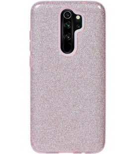 "Rožinis silikoninis blizgantis dėklas Xiaomi Redmi Note 8 Pro telefonui ""Shining Case"""