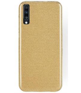"""Auksinės spalvos silikoninis blizgantis dėklas Samsung Galaxy A70 telefonui """"Shining Case"""""""