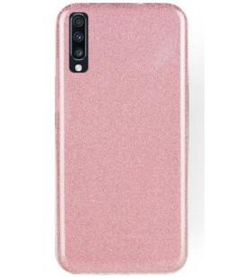 """Rožinis silikoninis blizgantis dėklas Samsung Galaxy A70 telefonui """"Shining Case"""""""