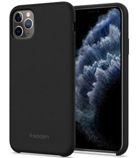 "Juodas silikoninis dėklas Apple iPhone 11 Pro telefonui ""Spigen Silicone Fit"""