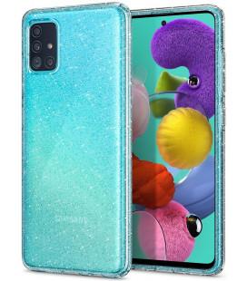 "Skaidrus dėklas su blizgučiais Samsung Galaxy A51 telefonui ""Spigen Liquid Crystal Glitter"""