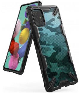 """Juodas (Camo) dėklas Samsung Galaxy A51 telefonui """"Ringke Fusion X"""""""
