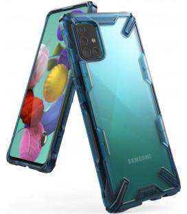 "Mėlynas dėklas Samsung Galaxy A51 telefonui ""Ringke Fusion X"""