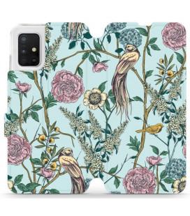 """Atverčiamas dėklas """"Paukščiai"""" Samsung Galaxy A51 telefonui """"Mobiwear MX07R"""""""