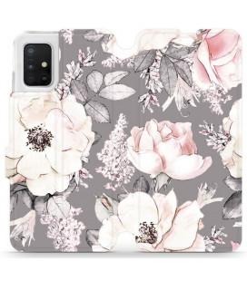 """Atverčiamas dėklas """"Faded"""" Samsung Galaxy A51 telefonui """"Mobiwear MX06R"""""""