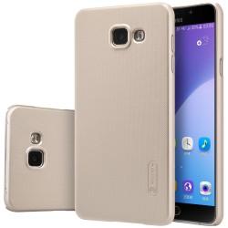 """Auksinės spalvos plastikinis dėklas Samsung Galaxy A5 2016 A510 telefonui """"Nillkin Frosted Shield"""""""