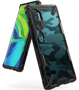 """Juodas (Camo) dėklas Xiaomi Mi Note 10/10 PRO telefonui """"Ringke Fusion X"""""""