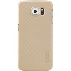 """Auksinės spalvos plastikinis dėklas Samsung Galaxy S7 G930 telefonui """"Nillkin Frosted Shield"""""""