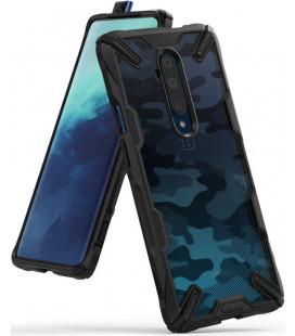 """Juodas (Camo) dėklas Oneplus 7T Pro telefonui """"Ringke Fusion X"""""""