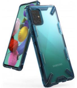 "Mėlynas dėklas Samsung Galaxy A71 telefonui ""Ringke Fusion X"""