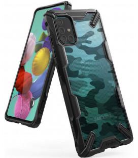 """Juodas (Camo) dėklas Samsung Galaxy A71 telefonui """"Ringke Fusion X"""""""