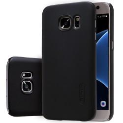 """Juodas plastikinis dėklas Samsung Galaxy S7 G930 telefonui """"Nillkin Frosted Shield"""""""