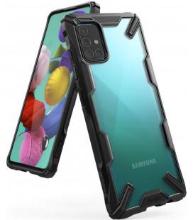 """Juodas dėklas Samsung Galaxy A71 telefonui """"Ringke Fusion X"""""""