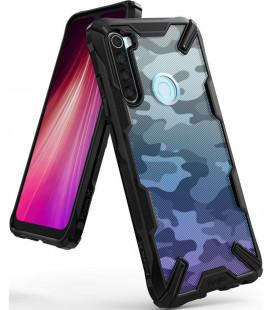"""Juodas (Camo) dėklas Xiaomi Redmi Note 8 telefonui """"Ringke Fusion X"""""""