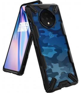 """Juodas (Camo) dėklas Oneplus 7T telefonui """"Ringke Fusion X"""""""