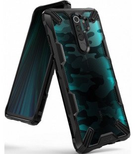 """Juodas (Camo) dėklas Xiaomi Redmi Note 8 Pro telefonui """"Ringke Fusion X"""""""