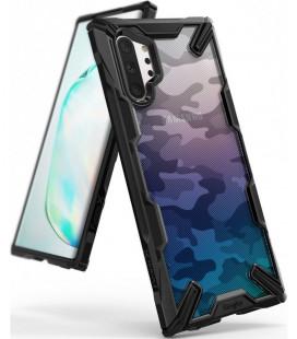 """Juodas (Camo) dėklas Samsung Galaxy Note 10 Plus telefonui """"Ringke Fusion X"""""""