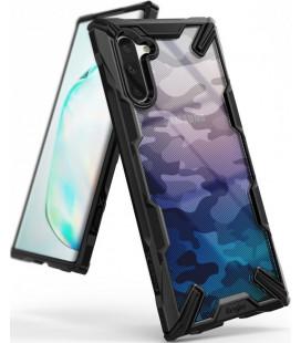 """Juodas (Camo) dėklas Samsung Galaxy Note 10 telefonui """"Ringke Fusion X"""""""