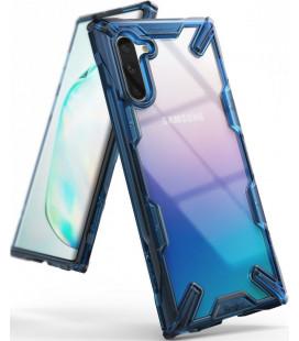 """Mėlynas dėklas Samsung Galaxy Note 10 telefonui """"Ringke Fusion X"""""""