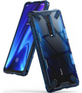 "Mėlynas dėklas Xiaomi Mi 9T / Mi 9T Pro telefonui ""Ringke Fusion X"""