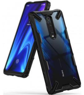 "Juodas dėklas Xiaomi Mi 9T / Mi 9T Pro telefonui ""Ringke Fusion X"""