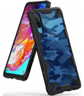 """Juodas (Camo) dėklas Samsung Galaxy A70 telefonui """"Ringke Fusion X"""""""