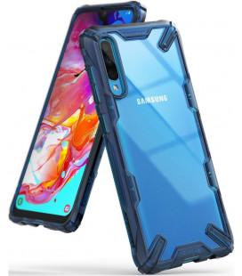"Mėlynas dėklas Samsung Galaxy A70 telefonui ""Ringke Fusion X"""