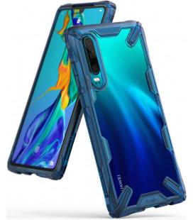 """Mėlynas dėklas Huawei P30 telefonui """"Ringke Fusion X"""""""