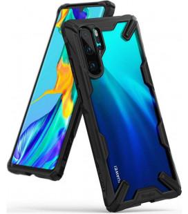 """Juodas dėklas Huawei P30 Pro telefonui """"Ringke Fusion X"""""""