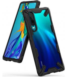 """Juodas dėklas Huawei P30 telefonui """"Ringke Fusion X"""""""