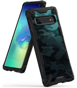 """Juodas (Camo) dėklas Samsung Galaxy S10 telefonui """"Ringke Fusion X"""""""