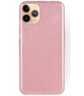 "Rožinis silikoninis blizgantis dėklas Apple iPhone 11 Pro telefonui ""Shining Case"""