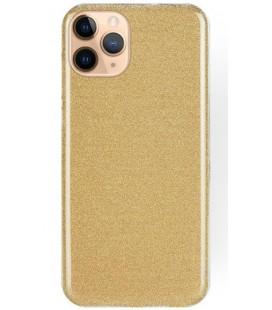 """Auksinės spalvos silikoninis blizgantis dėklas Apple iPhone 11 Pro Max telefonui """"Shining Case"""""""