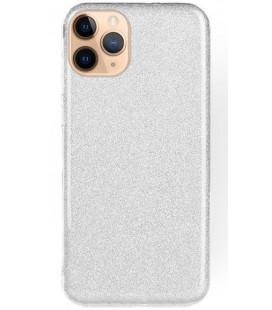 """Sidabrinės spalvos silikoninis blizgantis dėklas Apple iPhone 11 Pro Max telefonui """"Shining Case"""""""