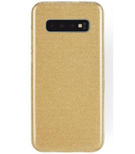 """Auksinės spalvos silikoninis blizgantis dėklas Samsung Galaxy S10 telefonui """"Shining Case"""""""