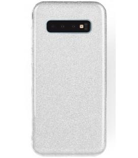 """Sidabrinės spalvos silikoninis blizgantis dėklas Samsung Galaxy S10 telefonui """"Shining Case"""""""